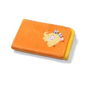 BabyOno babatakaró mikroszálas 3D kétoldalas 75x100cm sárga/narancs