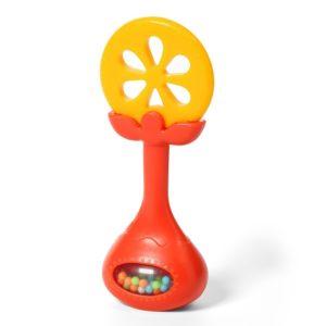 BabyOno csörgő rágóka narancs