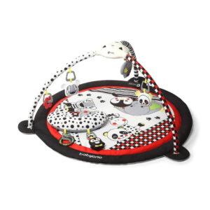 BabyOno játszószőnyeg játékhíddal C-MORE (zene, fény, pocakpárna) 100cm átmérő