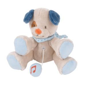 Nattou felhúzós zenélő plüss kicsi Jim and Bob - Jim, a kutya