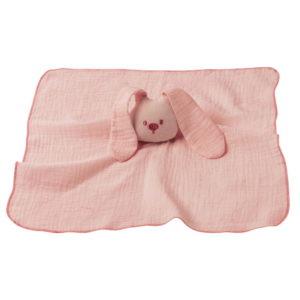 Nattou szundikendő pamut Lapidou - Nyúl pink