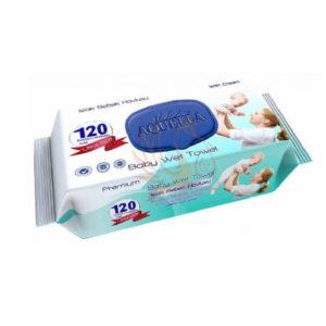 Aquella Baby nedves törlőkendő kupakos mix prémium 120 db