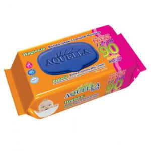 Aquella tisztítókendő Soft Hygienic kupakos 90 db