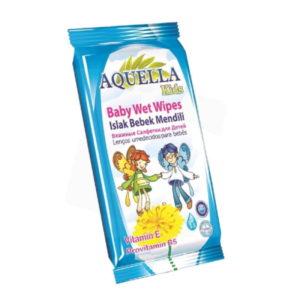 Aquella Kids Baby nedves törlőkendő Vitamin 12 db