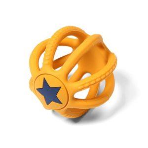 BabyOno rágóka Ortho gömb szilikon 6,5 cm 515/01 sárga