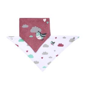 BabyOno előke háromszög 2db madárka