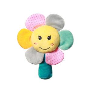 BabyOno csörgő Rainbow flower plüss virág