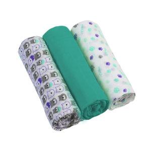BabyOno textilpelenka színes 3db türkiz