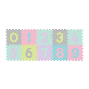 BabyOno szivacspuzzle szőnyeg pasztell számok 10db