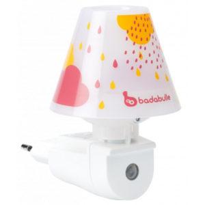 Badabulle éjjeli fény lámpa piros