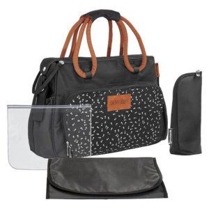 Badabulle pelenkázó táska BOHO fekete