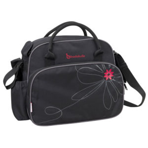 Badabulle pelenkázó táska fekete-pink