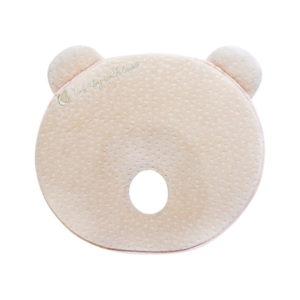 Kikkaboo párna laposfejűség elleni memóriahabos ergonomikus Mackó alakú bézs velvet