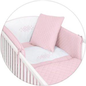 Ceba ágynemű huzat rácsvédővel prémium 5 részes Caro pink