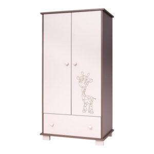 Drewex szekrény Zsiráfos 2 ajtós 1 fiókos cappuccino/latte
