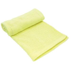 Kikkaboo takaró kötött aprómintás 70x100cm sárga