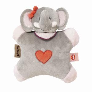 Nattou csörgő plüss Adele and Valentine - Adele, az elefánt