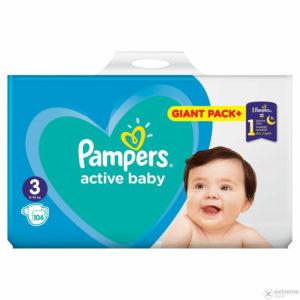 Pampers Active Baby 3 Giant Pack pelenka 6-10kg 90db