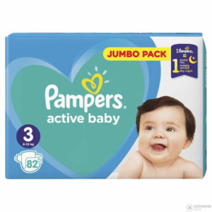 Pampers Active Baby 3 Jumbo Pack pelenka 6-10kg 82db