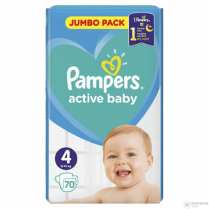 Pampers Active Baby 4 Jumbo Pack pelenka 9-14kg 70db