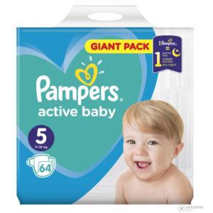 Pampers Active Baby 5 Giant Pack pelenka 11-16kg 64db