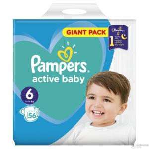 Pampers Active Baby 6 Giant Pack pelenka 13-18kg 56db