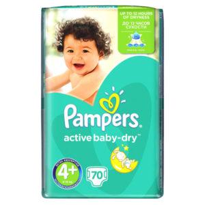Pampers Active Baby-Dry 4 pelenka 9-16kg 70db