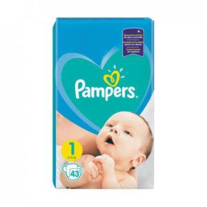 Pampers New Baby 1 pelenka 2-5kg 43db