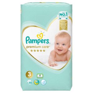 Pampers Premium Care 3 pelenka 6-10kg 60db