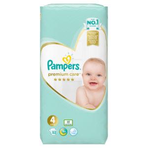 Pampers Premium Care 4 pelenka 9-14kg 52db