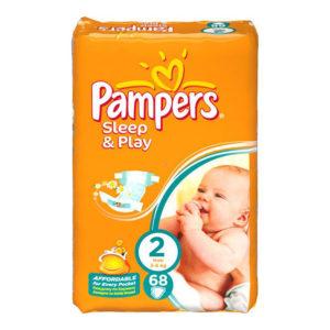 Pampers Sleep&Play 2 pelenka 3-6kg 68db