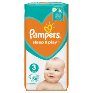 Pampers Sleep&Play 3 pelenka 6-10kg 58db