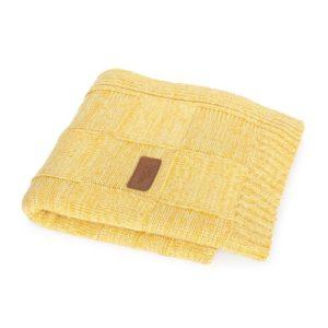 Ceba takaró kötött 90x90cm check honey