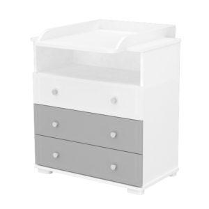 Timba pelenkázó szekrény Erik 80 ezüst-fehér