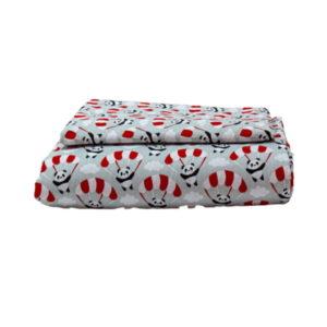 Vaganza ágynemű garnitúra 2 részes 90x140 40x50 piros panda