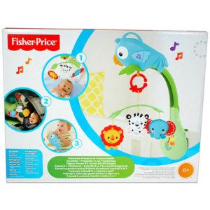 Fisher-Price zenélő körforgó esőerdős 3 az 1-ben