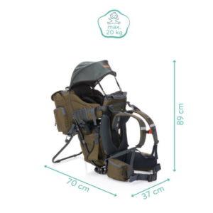 Fillikid háti hordozó hátizsákkal olivazöld 18003