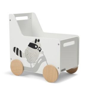 Kinderkraft játéktároló láda Racoon fehér