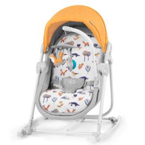 Kinderkraft 5in1 bölcső-babaágy-hinta-pihenőszék-szék Unimo erdő sárga