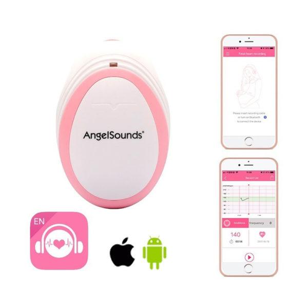 Angelsounds magzati szívhang hallgató okostelefonhoz