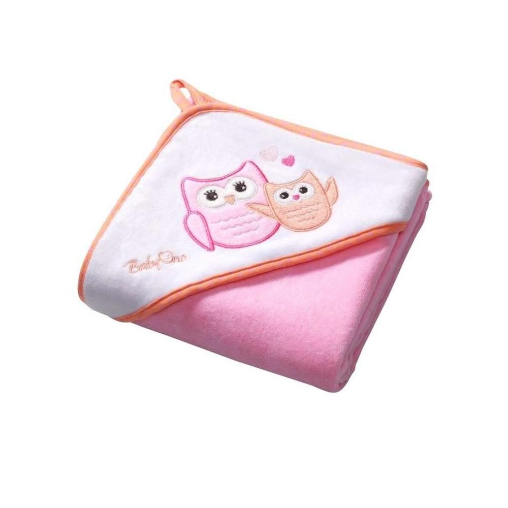 BabyOno fürdőlepedő 76x76cm rózsaszín