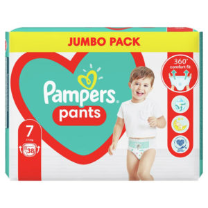 Pampers Pants 7 Jumbo Pack bugyipelenka XXL 17kg< 38db