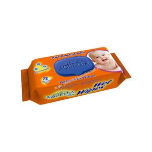 Aquella Kids Baby nedves törlőkendő Economic 72 db