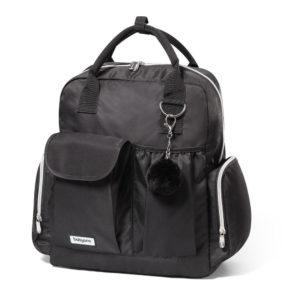 BabyOno pelenkázó táska PomPom hátizsák 35x35x17cm fekete