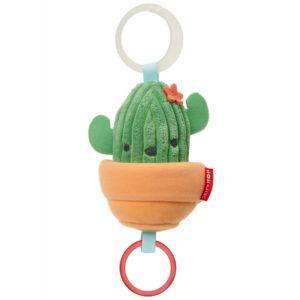 Skip Hop Felhúzós rezgő plüss babakocsira Kaktusz