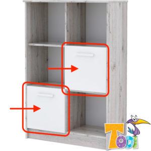 Todi ajtó Bee nyitott polcos szekrényhez 2db