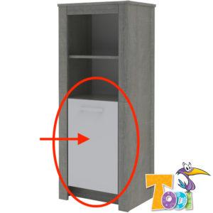 Todi ajtó Cube keskeny nyitott polcos szekrényhez