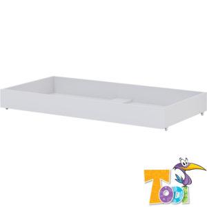 Todi ágyneműtartó White Bunny gurulós átalakítható 70x140cm kiságyhoz