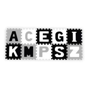 BabyOno szivacspuzzle szőnyeg betűk 10db szürke/f/f