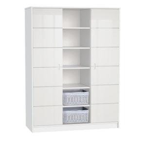Faktum szekrény Alda Jégfehér 3 osztású